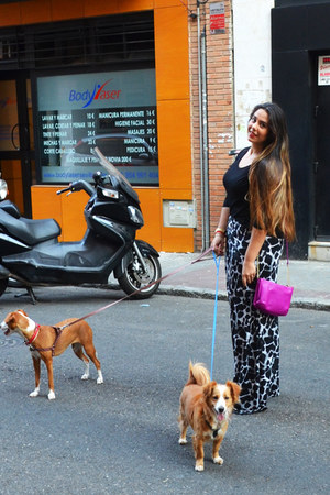 PULSERA accessories - Reloj accessories - magenta bolso lila con cadena bag