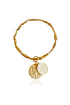 Gold Bangle Coin Charms