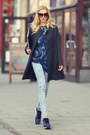 Black-sheinside-coat-navy-motel-rocks-t-shirt-navy-adidas-sneakers