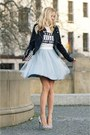 Light-blue-sukienkowo-dress-black-new-look-jacket-white-aldo-heels