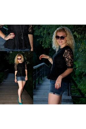 black peplum Vero Moda shirt