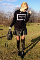 Zara boots - Zara sweater - New Yorker shirt - Zara bag - Zara sunglasses