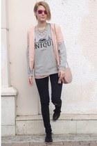 Zara jeans - Zara jacket - Koton bag - Mango sweatshirt - Graceland flats