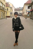 deezee boots - Louis Vuitton dress - New Yorker hat - New Yorker tights