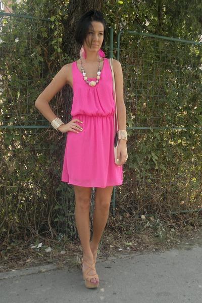 Neon Pink H&m Dress H&m