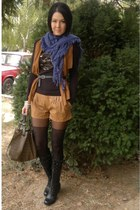 Graceland boots - New Yorker leggings - Koton bag - Terranova shorts