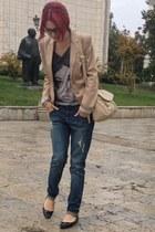 Stradivarius blazer - Takko jeans - legend bag