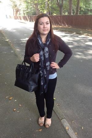 Zara scarf - H&M jeans - Zara bag - H&M jumper - Topshop flats
