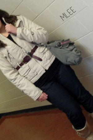 Majora coat - Joe Fresh belt - Joe Fresh jeans - American Eagle purse