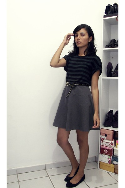 Black Blouses Charcoal Gray Blouses Heather Gray Skirts Black