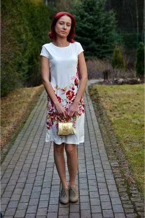 white shein dress