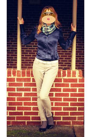 Victorias Secret blouse - Old Navy pants - Jessica Simpson shoes - Target scarf