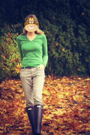 apt  9 sweater - Old Navy pants - Hunter boots