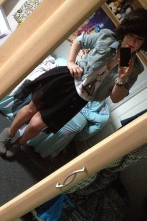 croc top Topshop top - new look jacket - Internaciole skirt