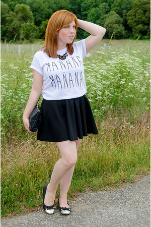 white blackfive shirt - black Zara skirt