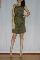 army green use as dress shirt - beige Bershka pumps