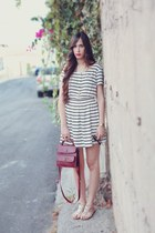 H&M dress - Zara bag - pull&bear sandals