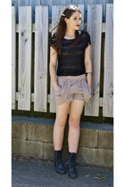 black tassel Dotti top - black Wildpair boots - tan Chica Booti shorts
