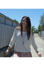 Glassons-jumper-rubi-clogs-garage-skirt-cross-bling-necklace
