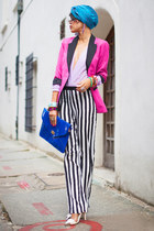 pink boyfriend house blazer - Sheinside pants