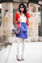 red lace Sheinside jacket - Sheinside bag