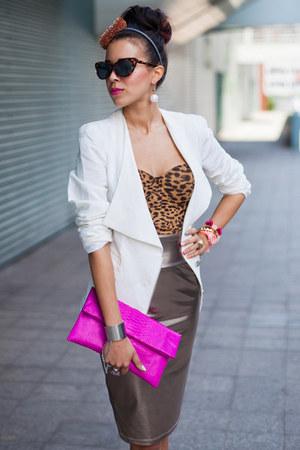 leopard bralet beginning boutique top - beginning boutique bag