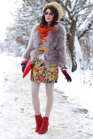 fur feathers asos coat