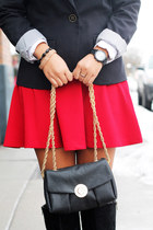 black merona blazer - ruby red Forever 21 skirt