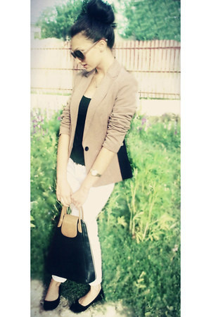 H&M jeans - BERSKA jacket - Valentino bag - H&M glasses