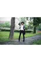 flare Bershka jeans - floppy Pimkie hat - wide H&M belt