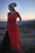 long H&M dress - thrifted Moschino belt
