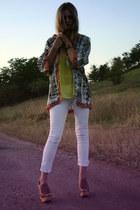 meli melo bracelet - Mango jeans - glow fashion blazer - meli melo necklace