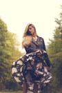 Maxi-thrifted-dress-biker-mango-jacket