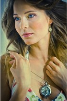 bronze filigree MadamLili earrings - MadamLili watch