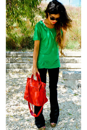 balenciaga bag - Victoria Beckham jeans - Zara t-shirt