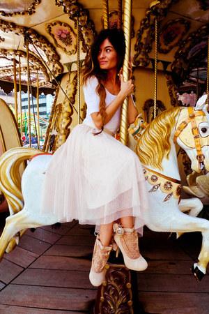 Topshop shoes - H&M skirt
