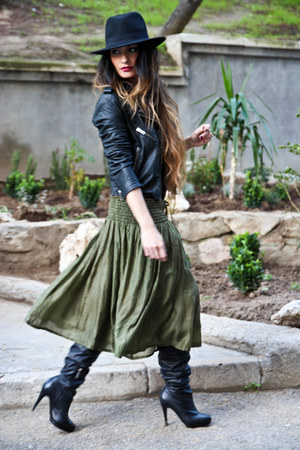 MASSCOB skirt - asos boots - Topshop jacket