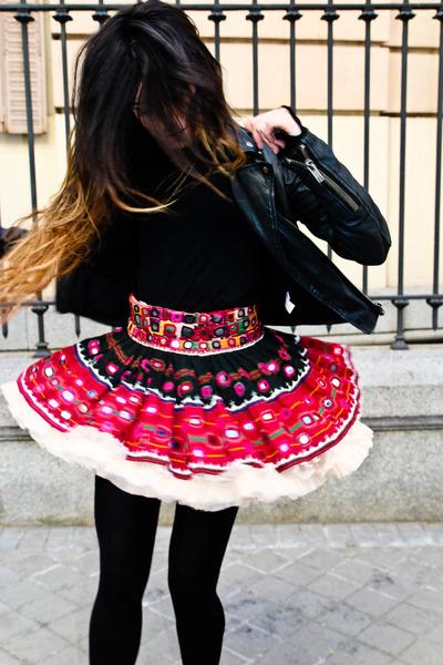 Topshop jacket - Las Dalias skirt