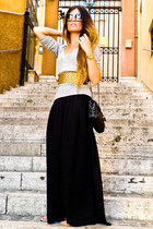 Bershka belt - Chanel bag - palazzo Zara pants - Topshop cardigan