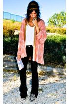kimono Antik Batik blouse - Christian Louboutin shoes - Victoria Beckham jeans