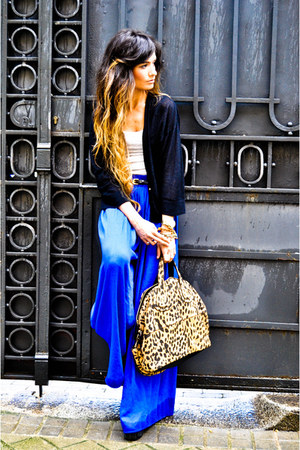 leopard Givenchy bag - Zara pants - Isabel Marant cardigan