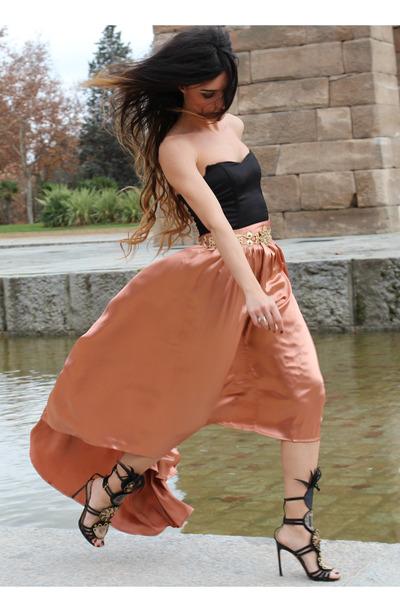 H&M top - asos skirt - YSL sandals