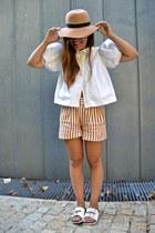 Zara shorts - Zara blouse - Primark heels