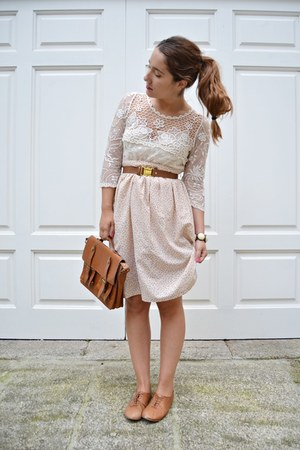 vintage skirt - suiteblanco bag - H&M belt - Zara flats - Zara blouse