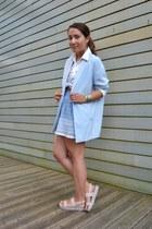 Stradivarius blazer - Lefties sandals - Zara skirt