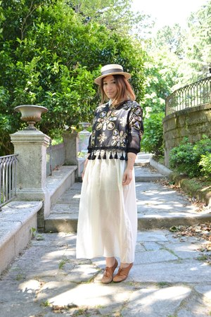 vintage dress - Tienda local hat - Zara flats - StyleMoi jumper