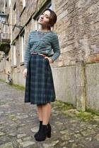 Choies skirt - Primark boots - Zara shirt