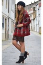 Black-zara-dress-pull-bear-cardigan