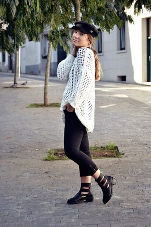 Zara jumper - H&M hat - zuca heels - Zara pants