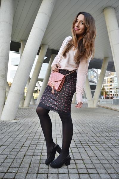 Primark bag - Stradivarius jumper - Bershka skirt
